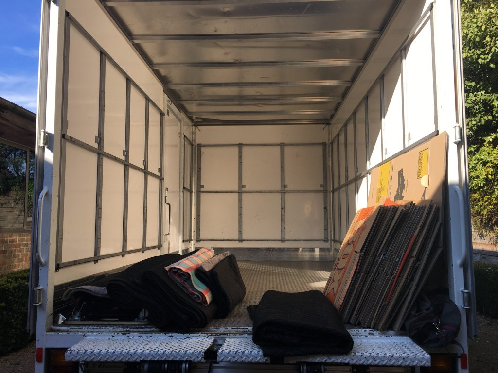 Open moving van ready for Moving Day