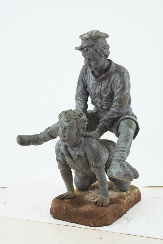 "Bronze statue ""Leapfrog"" from downsizing and deceased estates available at auction"