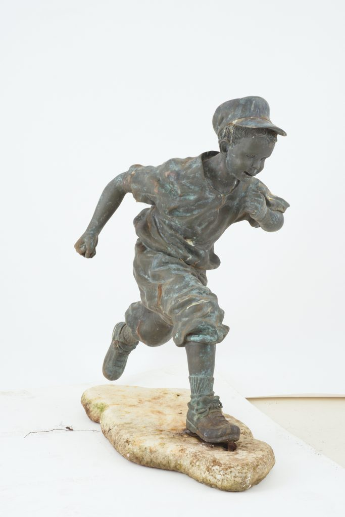 "Bronze statue ""Running Boy"" from downsizing and deceased estates available at auction"