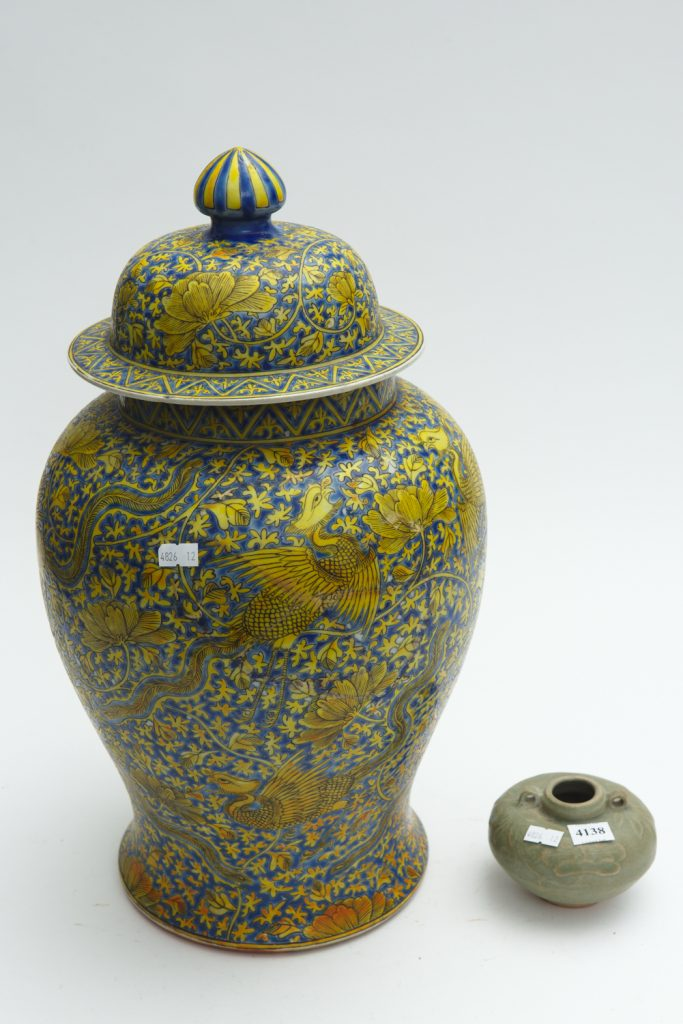 lidded jar from downsizing and deceased estates available at auction
