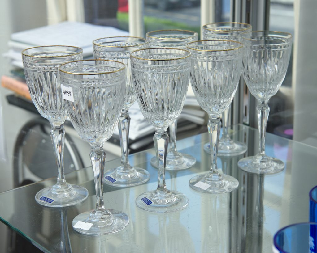 Set of Waterford Marquis wine glasses from downsizing and deceased estates available at auction