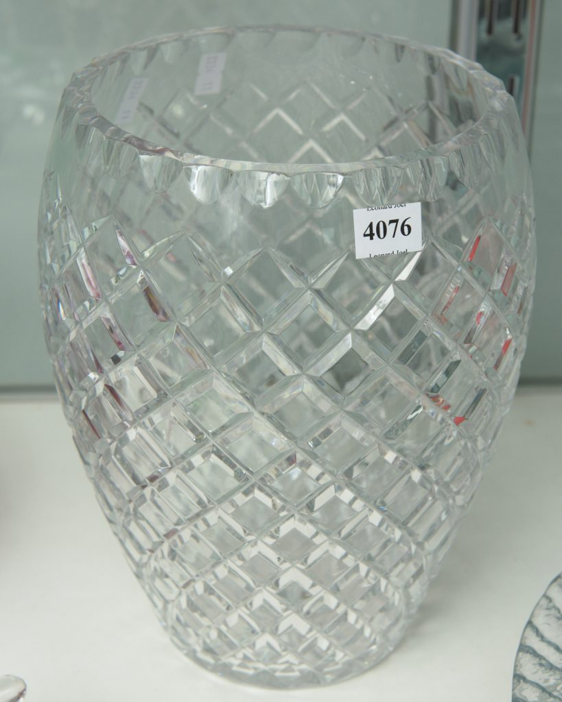 Crystal vase from downsizing and deceased estates available at auction