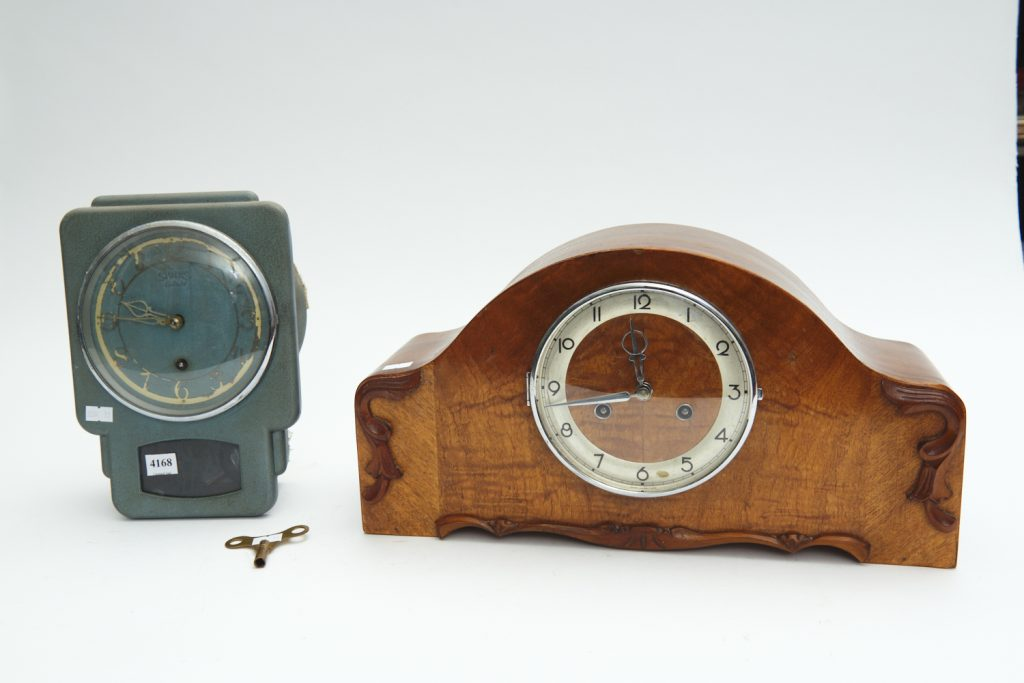 Vintage mantelpiece clocks from downsizing and deceased estates available at auction